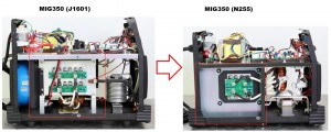 new MIG350(N255) vs old MIG350(J1601)
