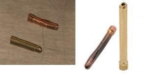 Wedge vs standard TIG-collet